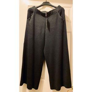 NEW ZARA Knitwear Culottes/Flowy Ankle Pants Gray